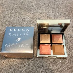 Becca Khloe and Malika bronze, blush and glow